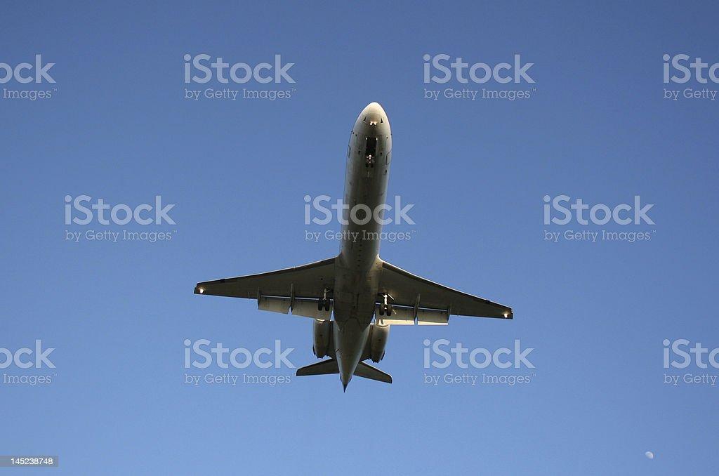 Commuter Jet landing stock photo