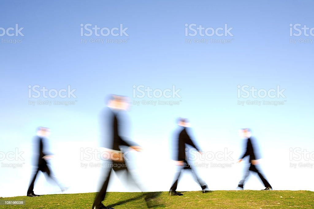 Commuter motion royalty-free stock photo