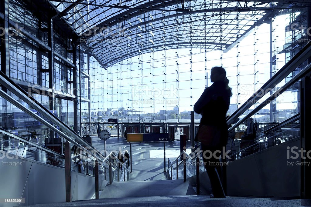 Commuter moving down royalty-free stock photo