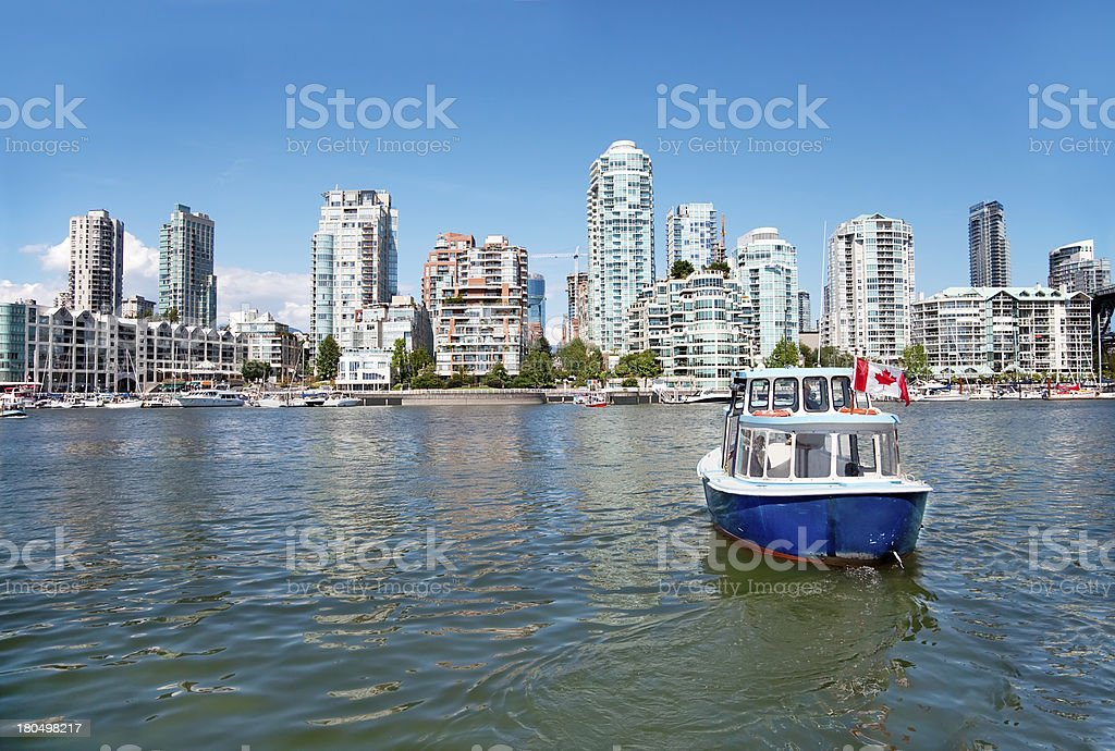 Commuter Passenger Ferry in False Creek, Vancouver, British Colu royalty-free stock photo