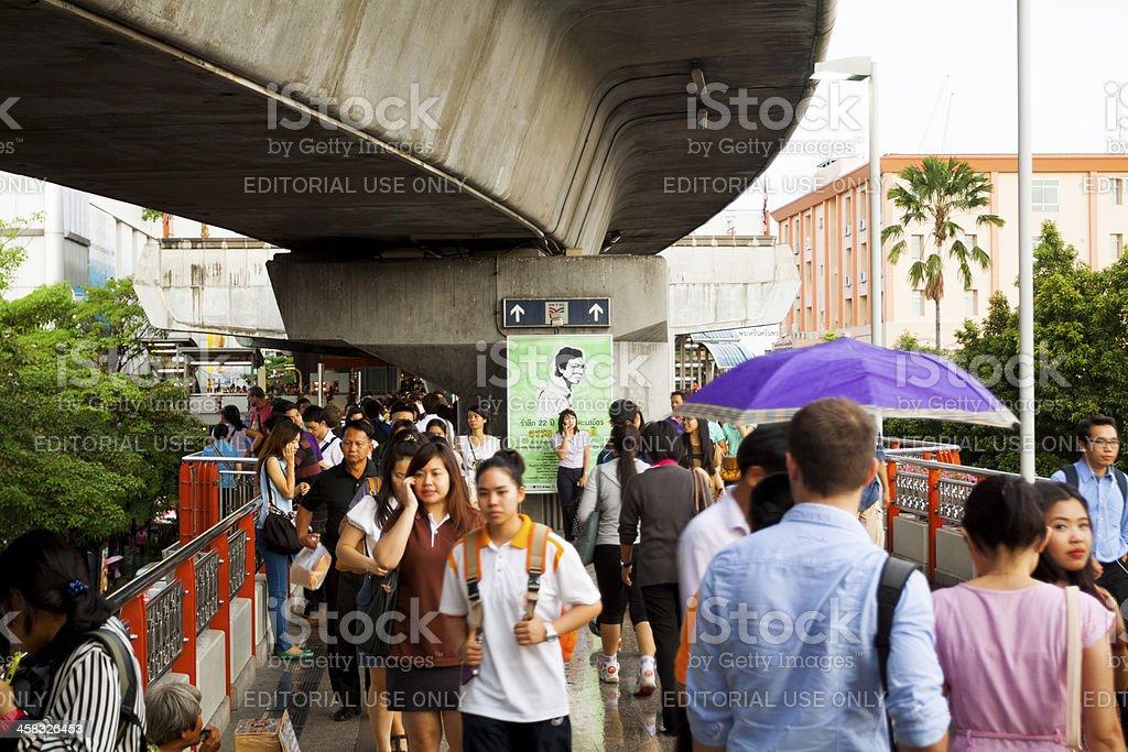 Commuter rush hour royalty-free stock photo