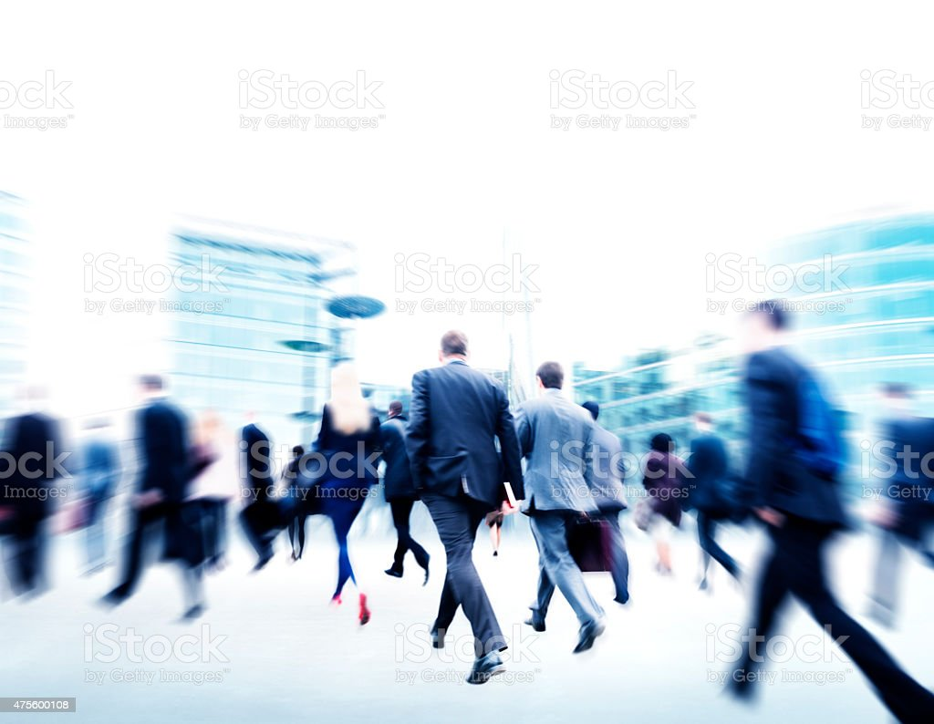 Commuter Rush Hour Travel Waking Business Concept stock photo