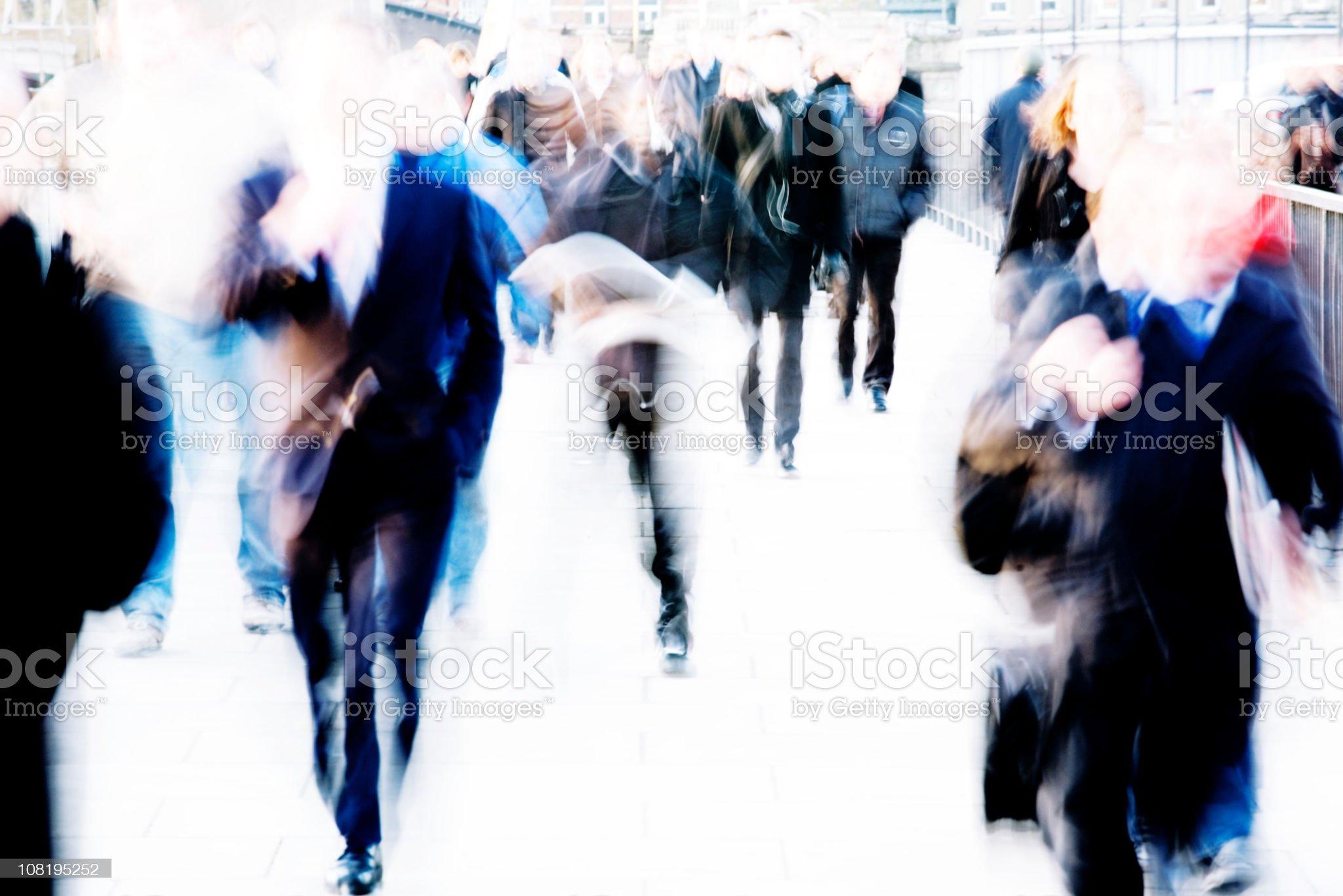 Commuter rush royalty-free stock photo