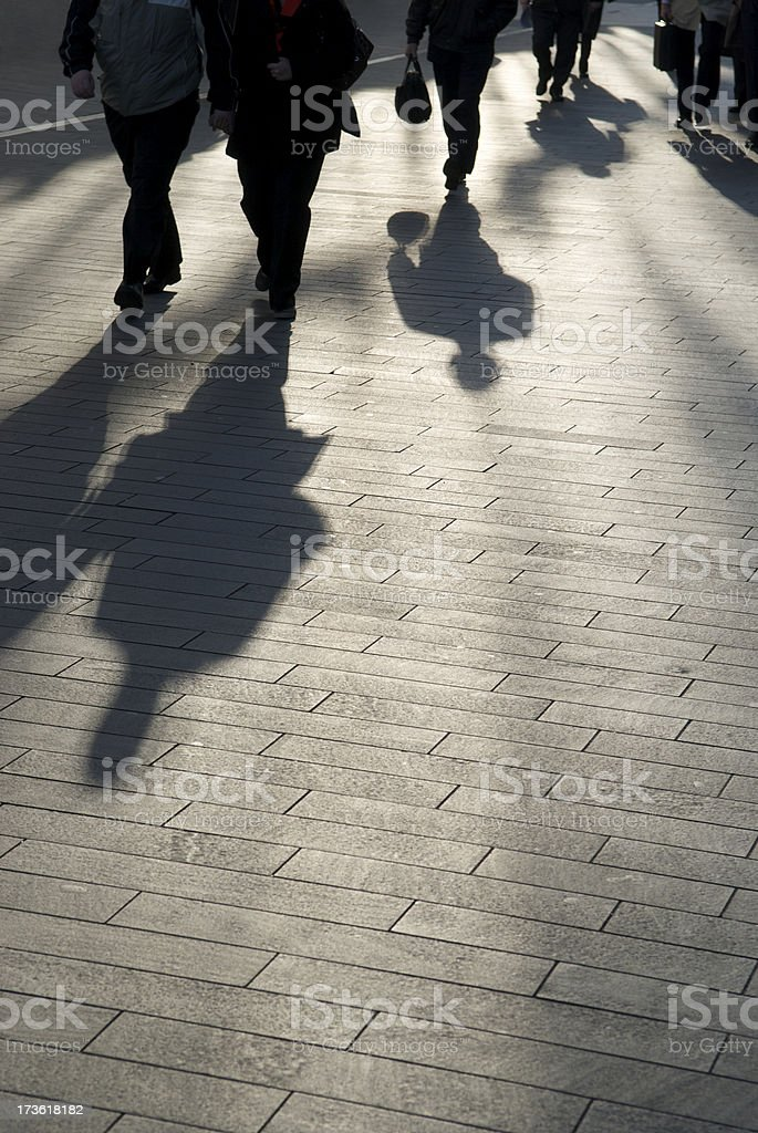 Commuter Shadows royalty-free stock photo