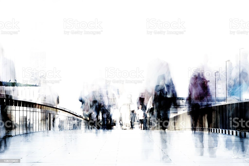 Commuter streaks royalty-free stock photo