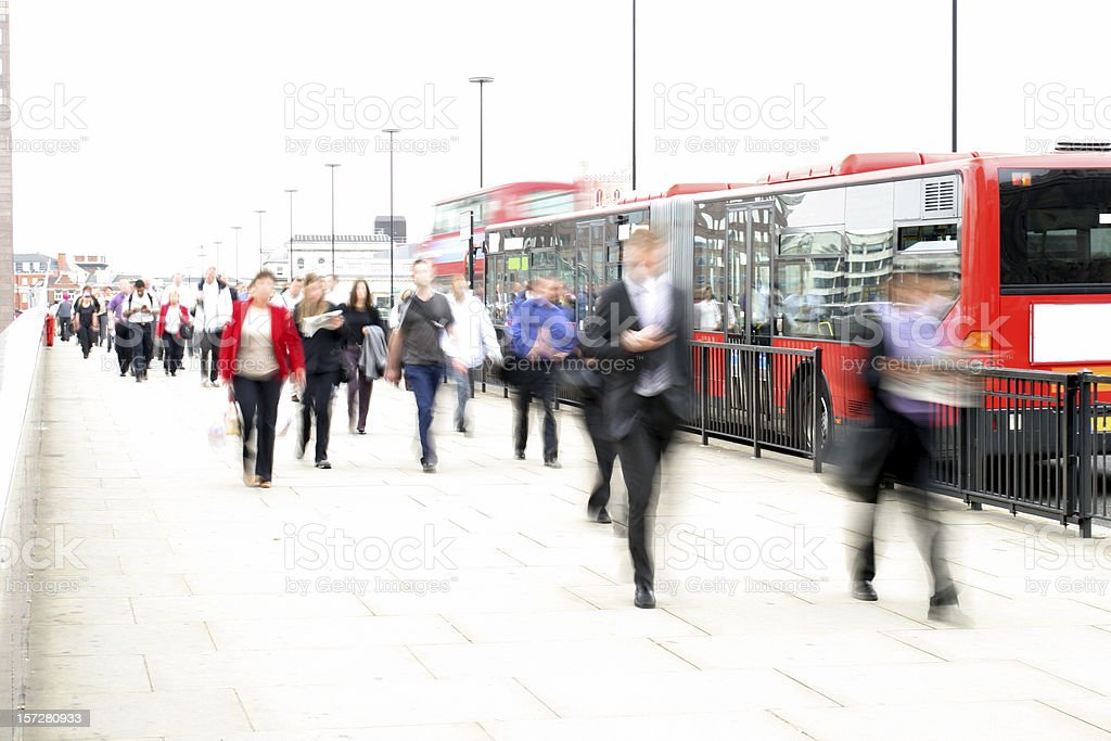 Commuter traffic royalty-free stock photo
