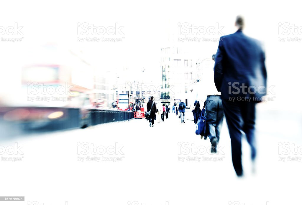 Commuter traffic royalty-free stock photo