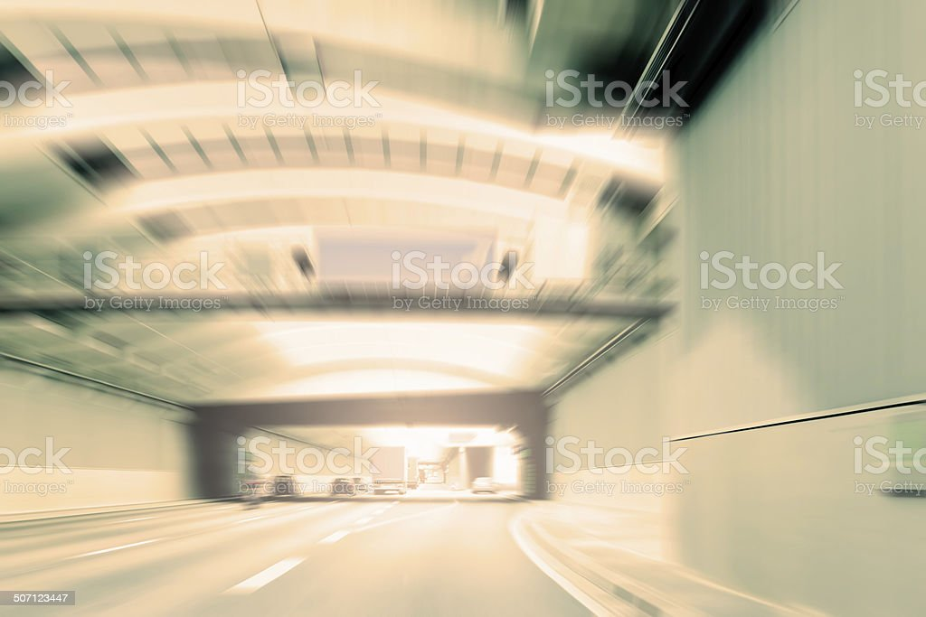 Commuter Traffic - Urban Tunnel royalty-free stock photo
