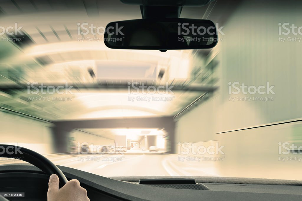 Commuter Traffic - Urban Tunnel stock photo