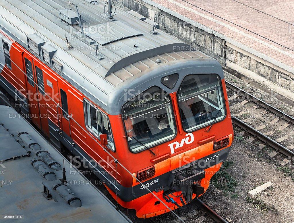 commuter train ED4M stock photo