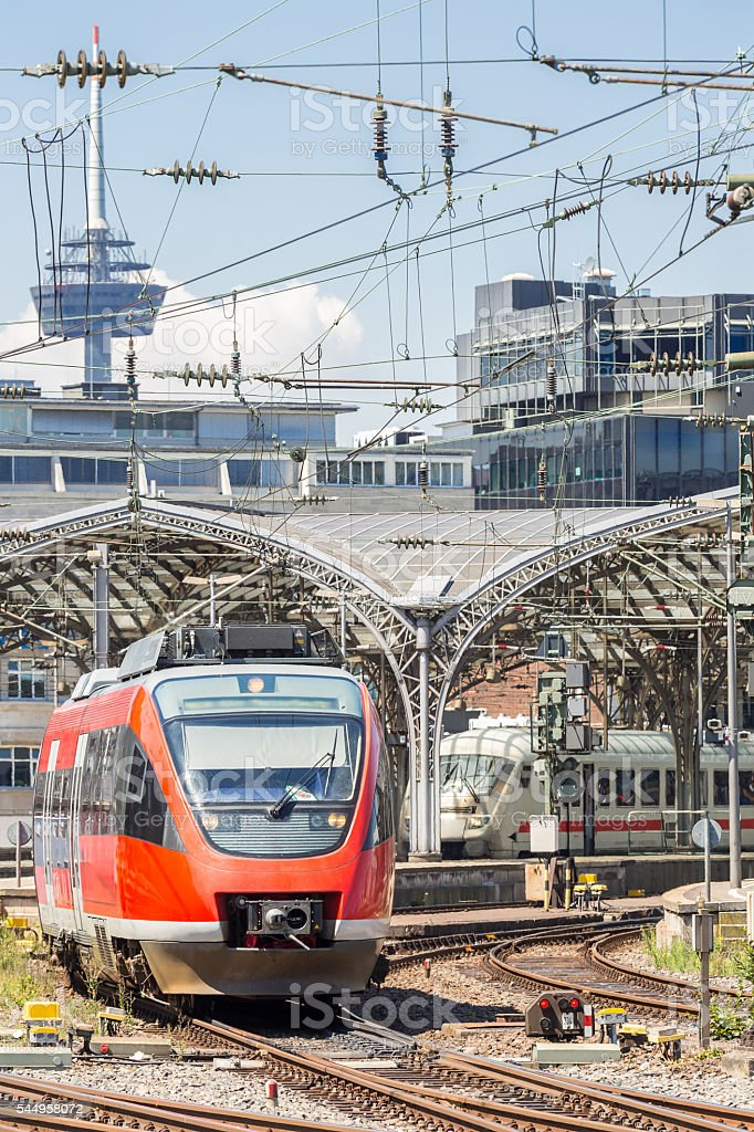 Commuter Train in Germany stock photo