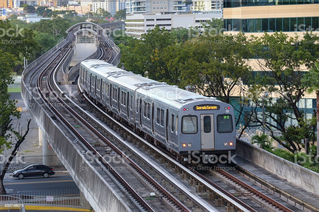 Commuter Train stock photo