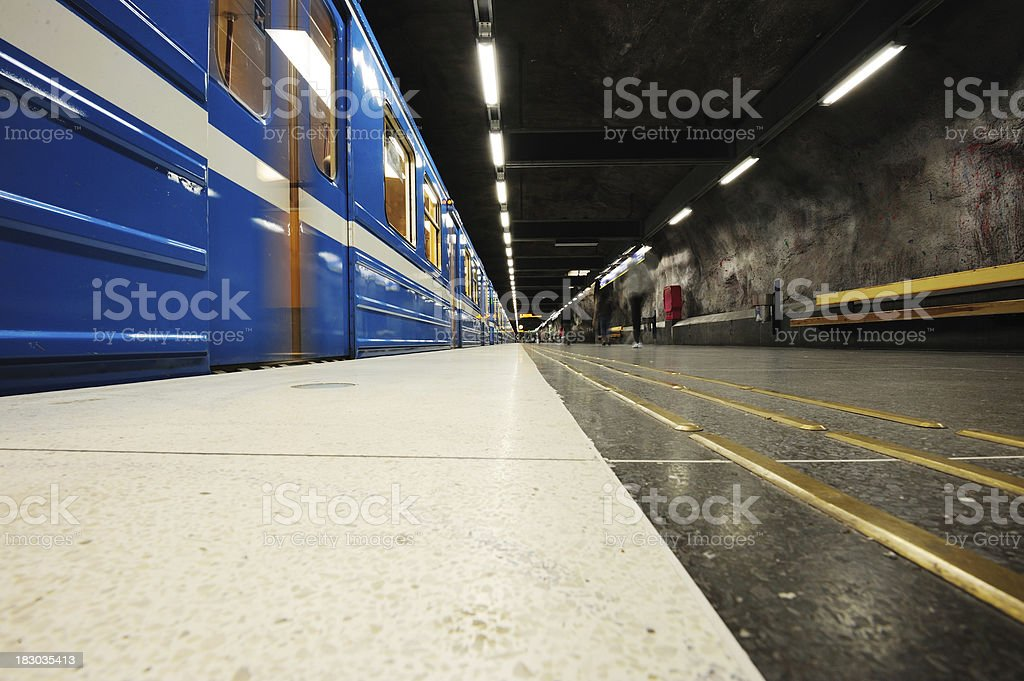 Commuter train station platform royalty-free stock photo