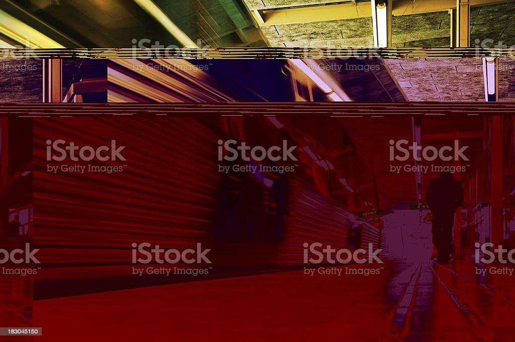 Commuter train station platform royalty-free stock photo