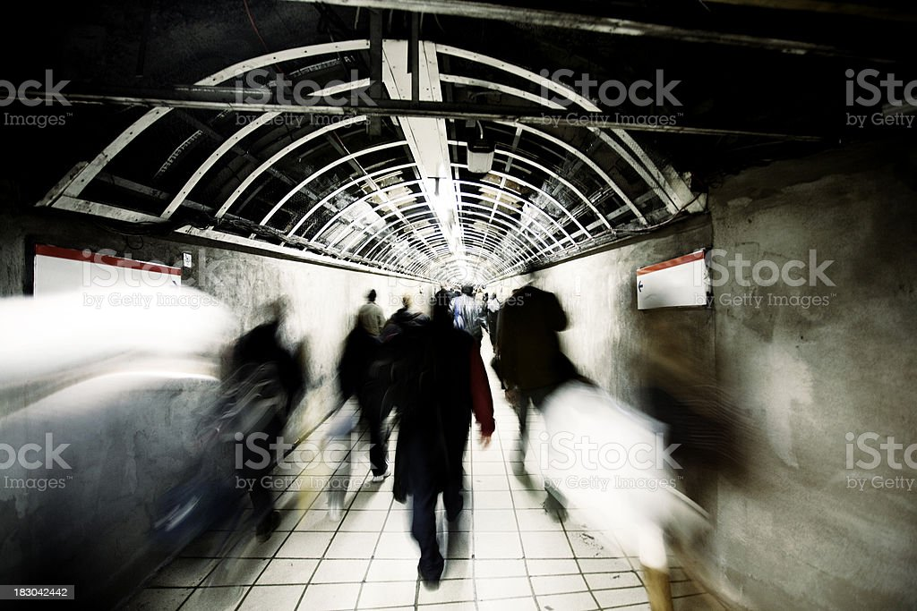 Commuter tunnel royalty-free stock photo
