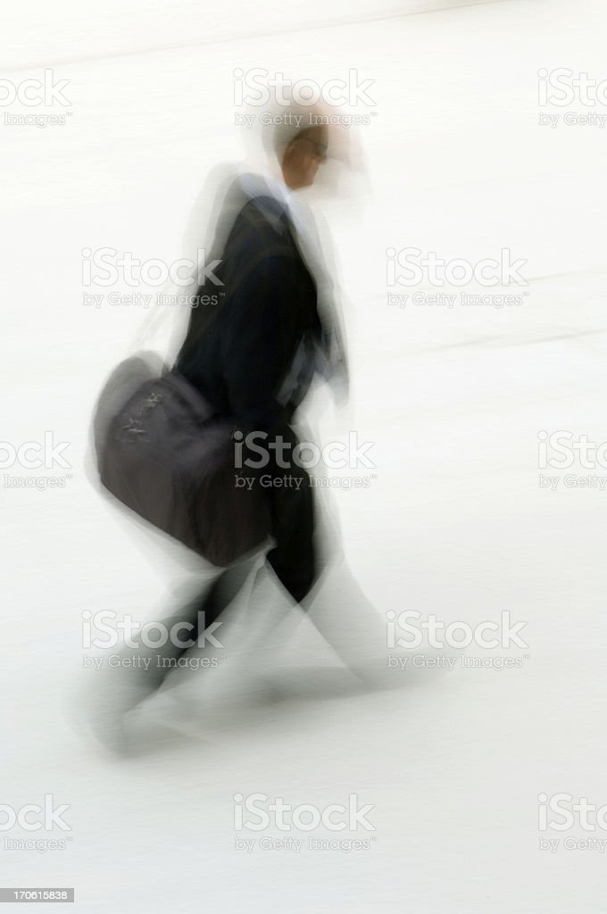 Commuter walking royalty-free stock photo
