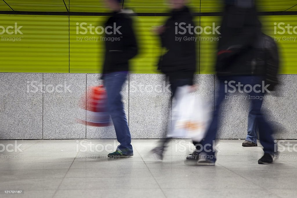 commuters at modern underground royalty-free stock photo