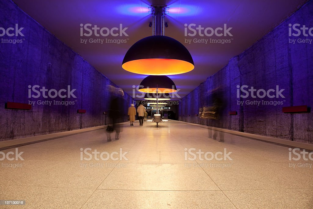 commuters at the subway station royalty-free stock photo