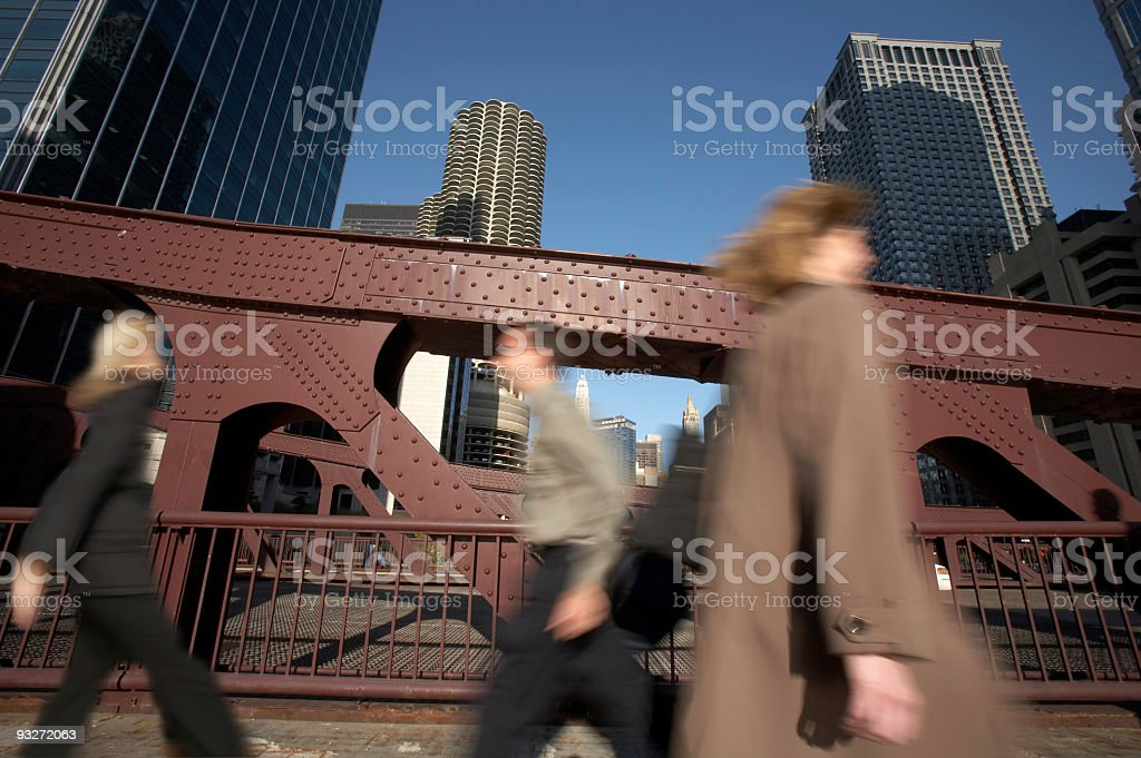 Commuters Going Home royalty-free stock photo