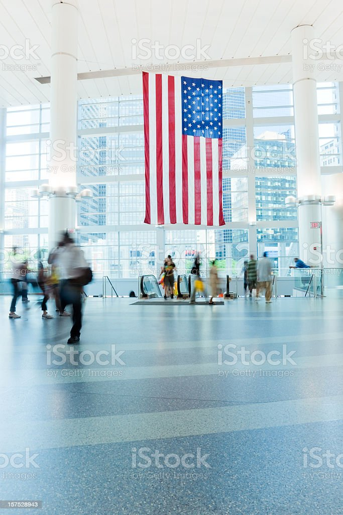 Commuters in Modern Terminal New York City royalty-free stock photo