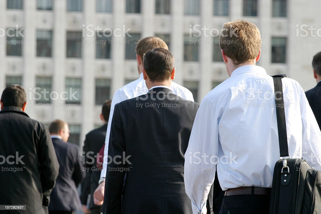 Commuters in the city royalty-free stock photo