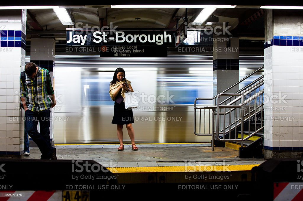 Commuters, Jay St - Borough Hall Subway Station royalty-free stock photo