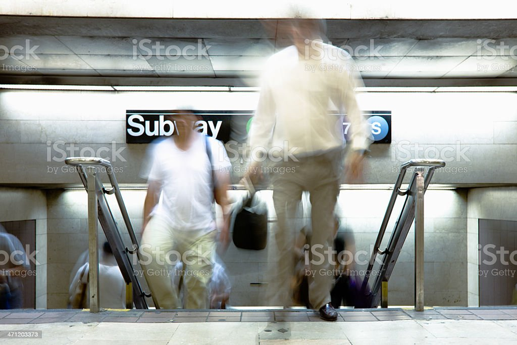 Commuters New York City Subway royalty-free stock photo