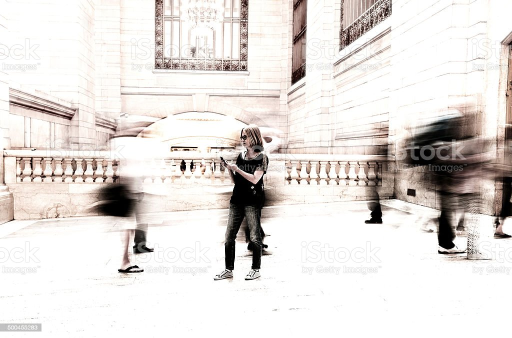 Commuters, NYC. royalty-free stock photo