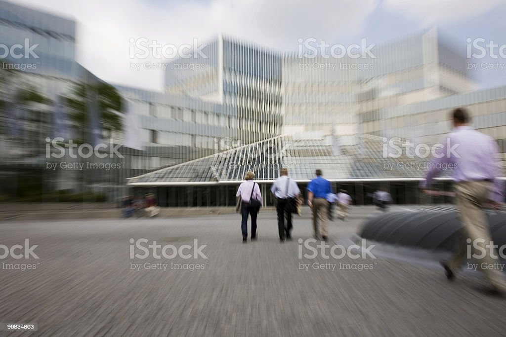 commuters on their way to work XL royalty-free stock photo