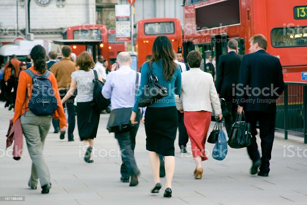 Commuters stock photo