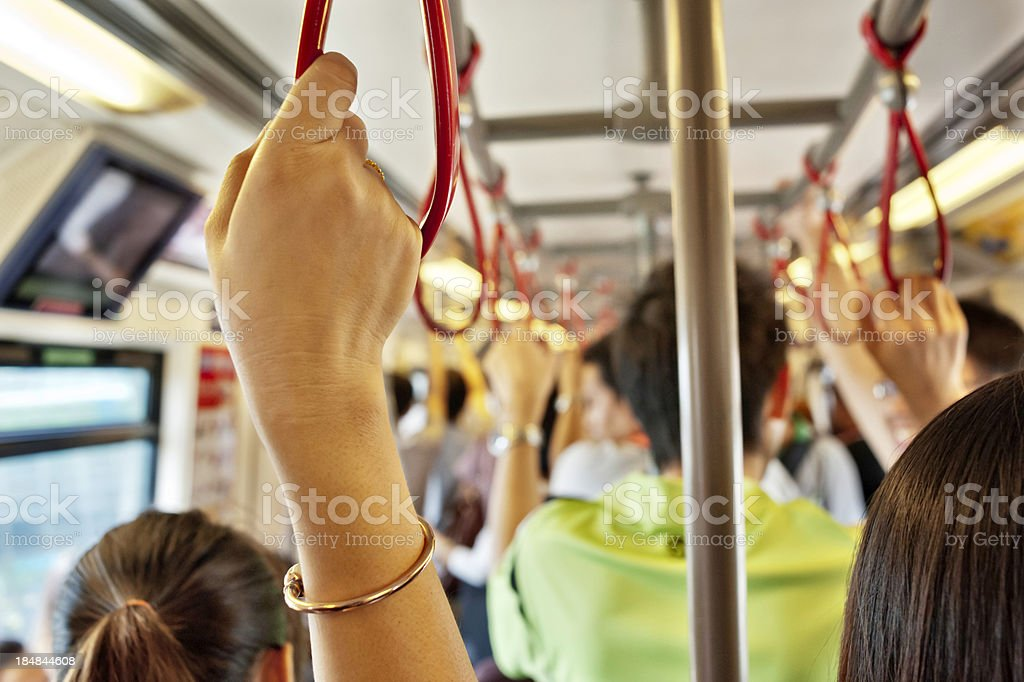 Commuters stock photo