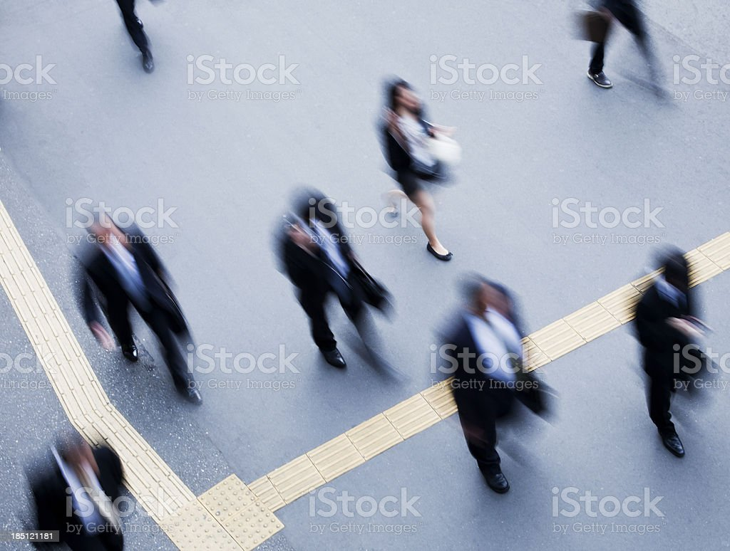 Commuters royalty-free stock photo