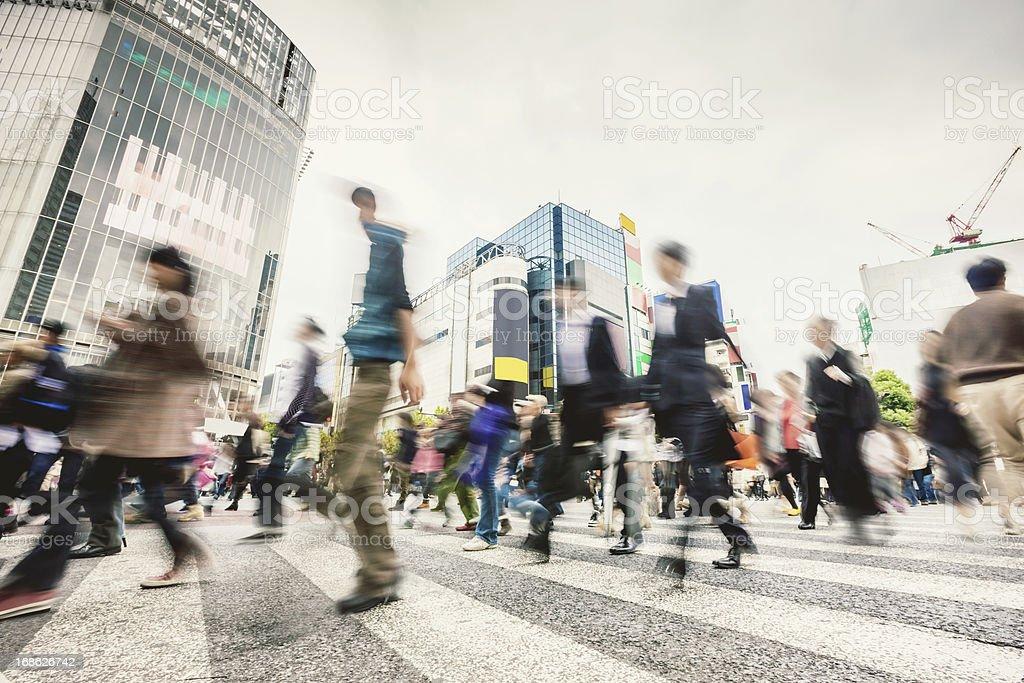 Commuters Shibuya Crossing,Tokyo Japan stock photo