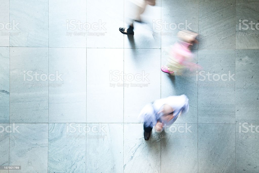 Commuters Walking By royalty-free stock photo