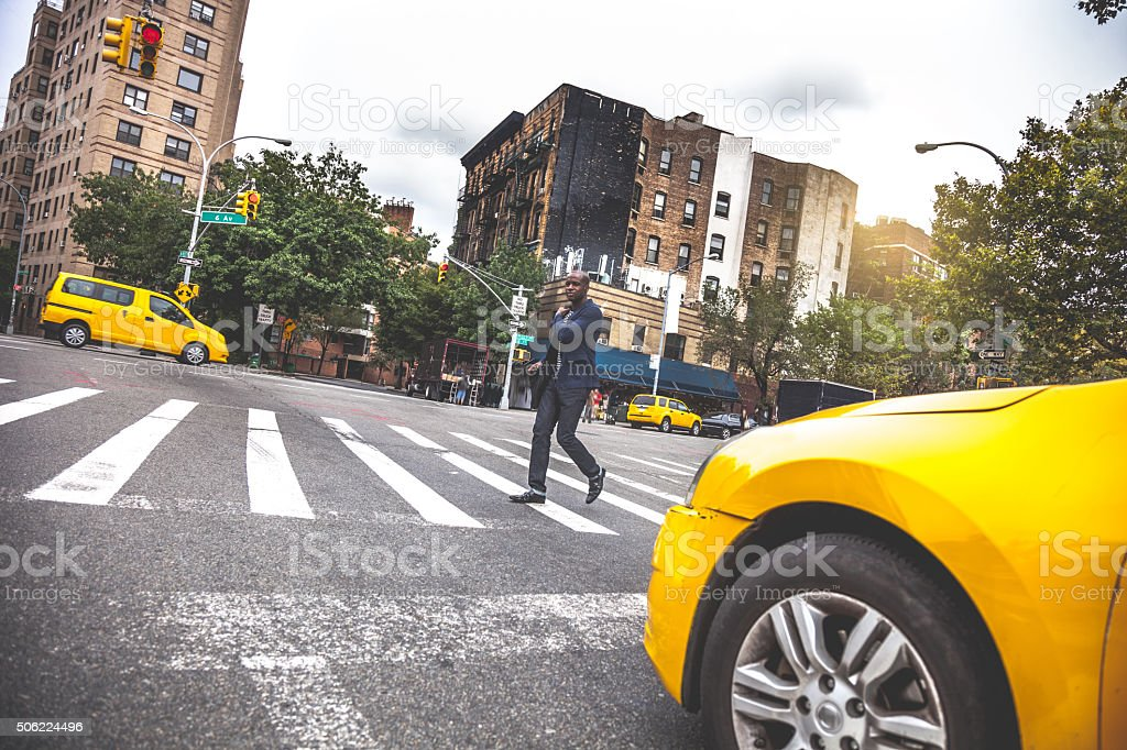 Commuting in New York in the morning stock photo