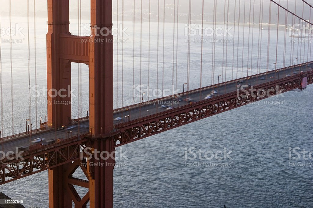 Commuting Over the Golden Gate Bridge royalty-free stock photo