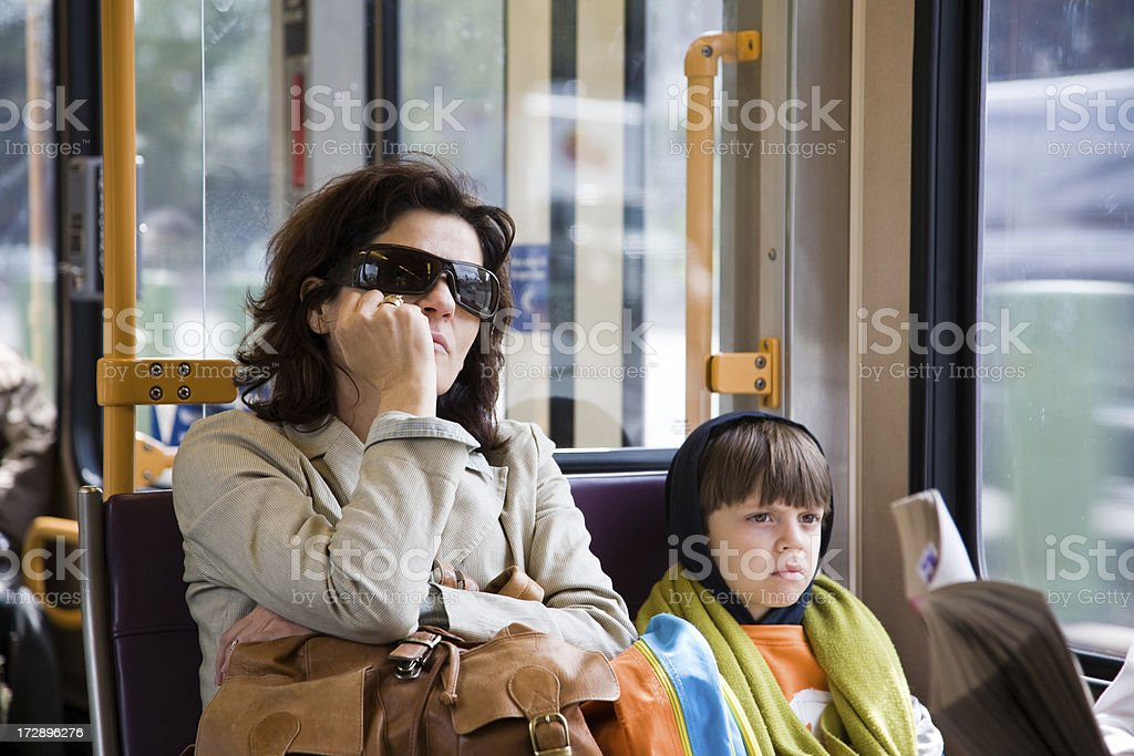 Commuting royalty-free stock photo