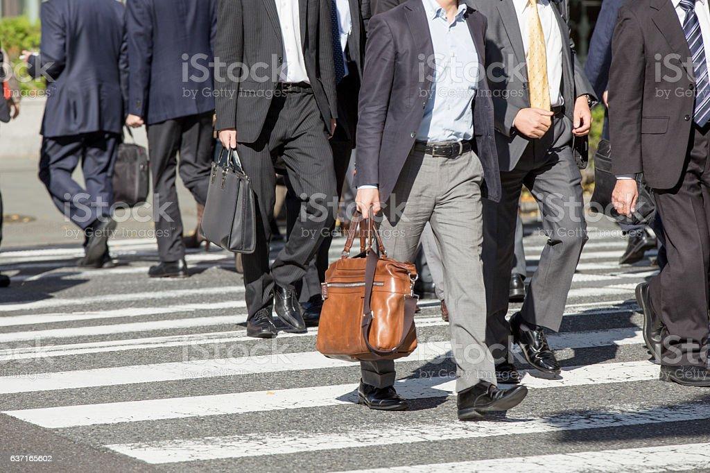 Commuting scenery in Japan (businessman) stock photo