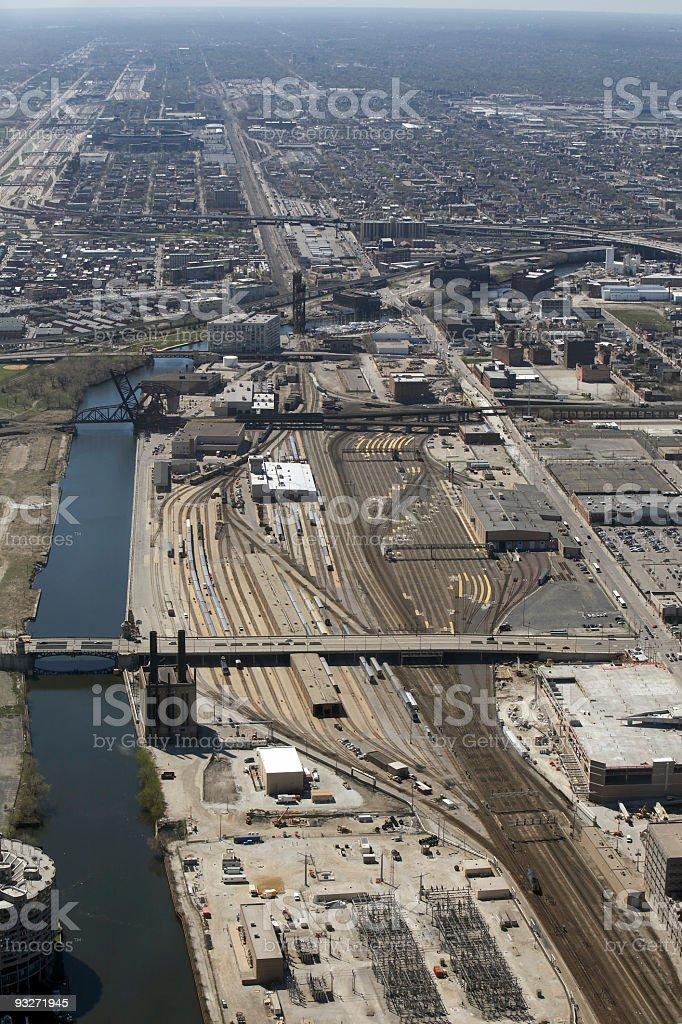Commuting - Train Tracks & Highways stock photo