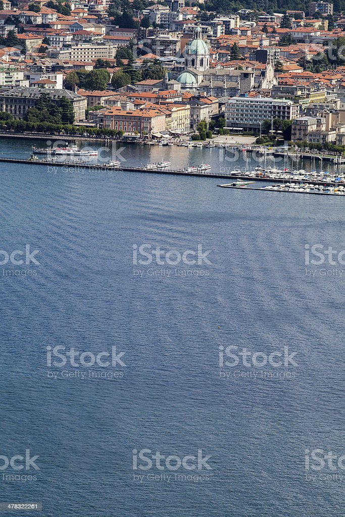 Como: city panorama from the lake royalty-free stock photo