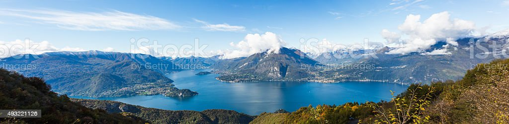 Como District  Lake in Italy stock photo