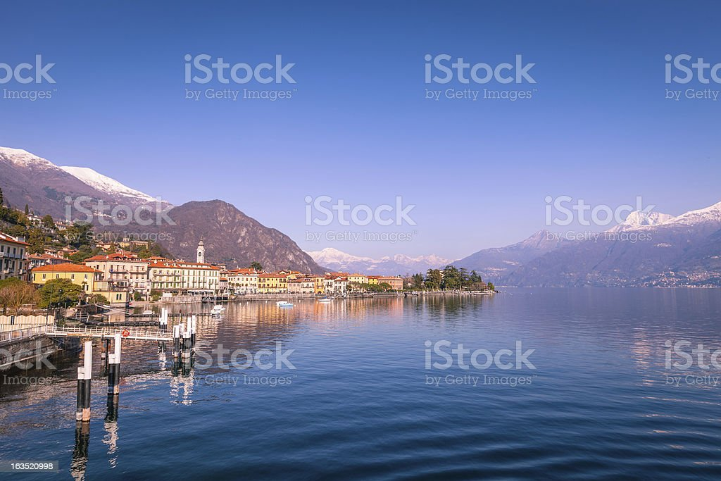 Como district lake, Menaggio stock photo