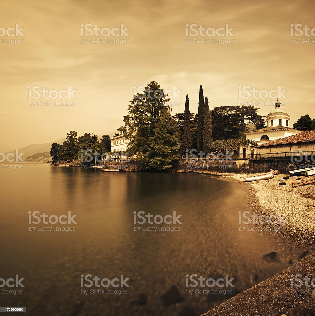 Como Lake in italy stock photo