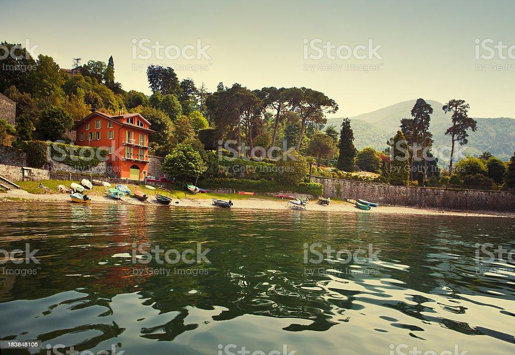 Como Lake in italy stock photo