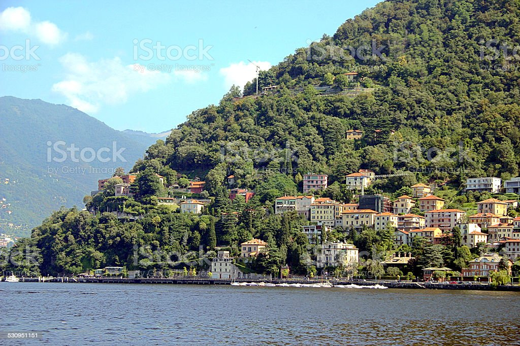 Como lake, north of Italy stock photo