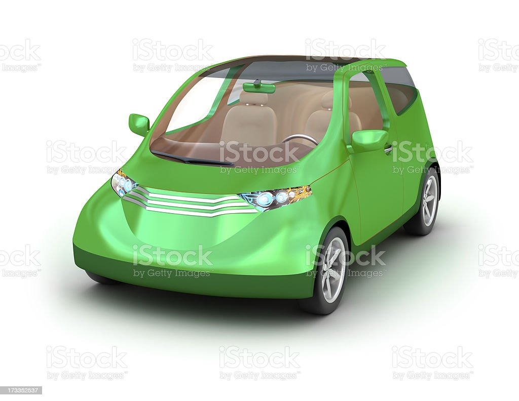 Compact car on white background royalty-free stock photo