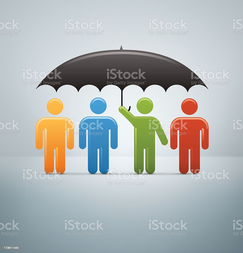 Compact Concepts: Corporate Umbrella royalty-free stock photo