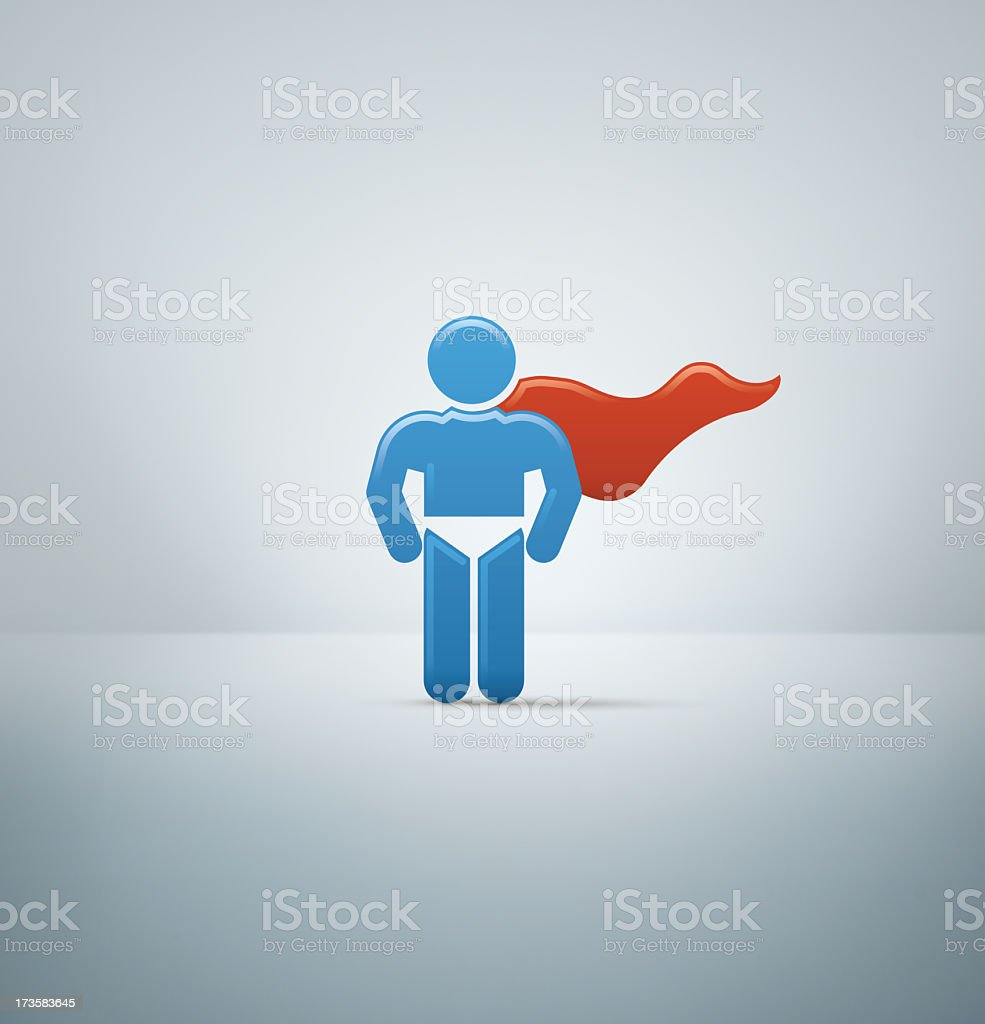 Compact Concepts: Superman royalty-free stock photo