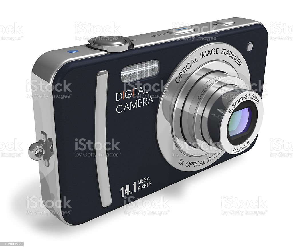 Compact digital camera royalty-free stock photo