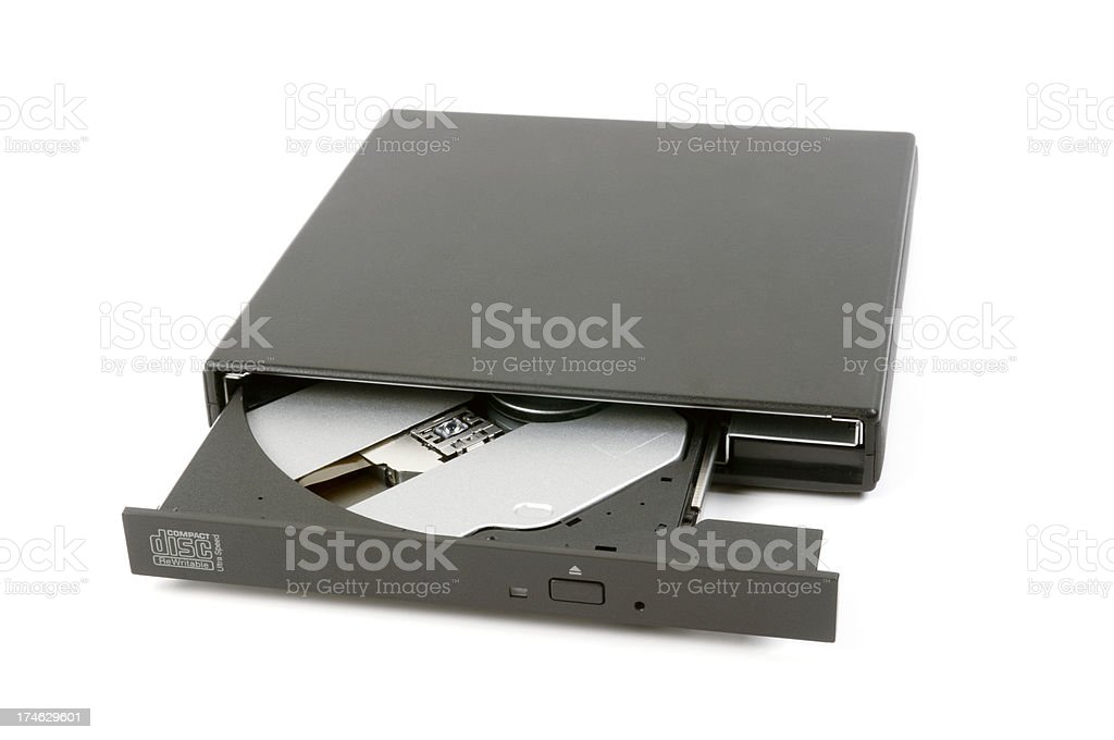 Compact disc rewritable royalty-free stock photo